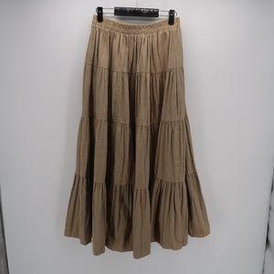 On The Verge Elastic Waist Pleated Long Maxi Skirt